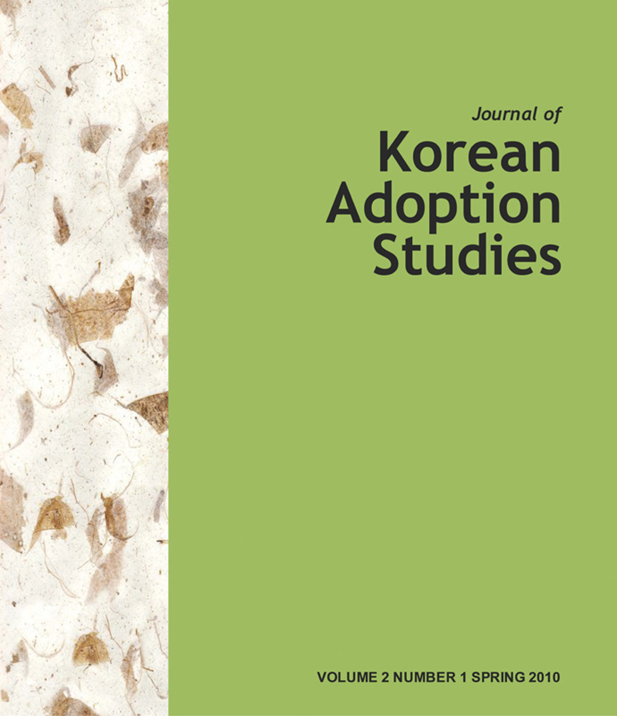 Journal Of Korean Adoption Studies (ebook)