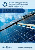 Montaje eléctrico y electrónico en instalaciones solares fotovoltaicas. ENAE0108
