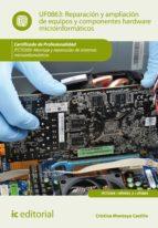 Reparación y ampliación de equipos y componentes hardware microinformáticos. IFCT0309 - Montaje y reparación de sistemas microinformáticos