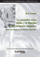 La posesión como delito y la función del elemento subjetivo (ebook)