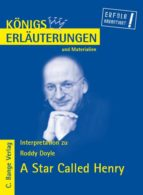 A Star Called Henry von Roddy Doyle. Textanalyse und Interpretation in deutscher Sprache. (ebook)