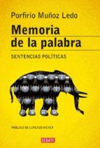 Memoria de la palabra (ebook)