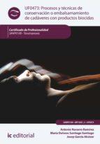 Procesos y técnicas de conservación o embalsamamiento de cadáveres con productos biocidas. SANP0108
