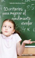 10 criterios para mejorar el rendimiento escolar