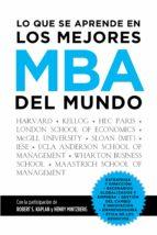 Lo que se aprende en los mejores MBA del mundo (ebook)