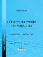 L'Oeuvre du comte de Mirabeau (ebook)