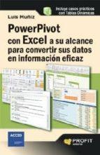 Powerpivot con excel a su alcance para convertir sus datos en información eficaz