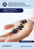 Sistema Operativo, búsqueda de información: Internet-Intranet y correo electrónico. ADGG0208 - Actividades administrativas en la relación con el cliente