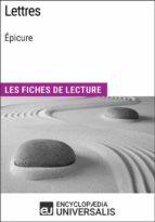 Lettres d'Épicure (ebook)