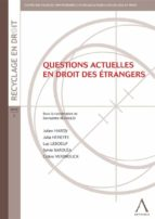 Questions actuelles en droit des étrangers (ebook)