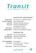 Transit 37. Europäische Revue (ebook)