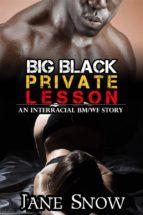 Big Black Private Lesson (Interracial Black M / White F Erotic Tale) (ebook)