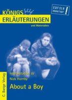 About a Boy von Nick Hornby. Textanalyse und Interpretation. (ebook)