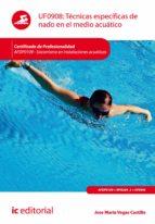 Técnicas específicas de nado en el medio acuático. AFDP0109  (ebook)