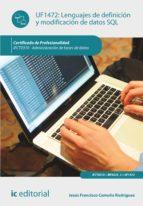 Lenguajes de definición y modificación de datos SQL. IFCT0310
