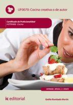 Cocina creativa o de autor. HOTR0408 (ebook)