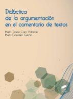 Didáctica de la argumentación en el comentario de textos (ebook)