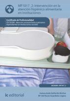 Intervención en la atención higiénico-alimentaria en instituciones. SSCS0208 (ebook)