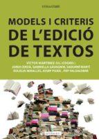 Models i criteris de l'edició de textos (ebook)