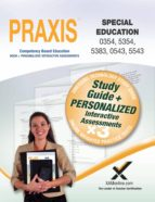 PRAXIS Special Education 0354/5354, 5383, 0543/5543 Book and Online (ebook)