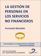 La gestión de personas en los servicios no financieros