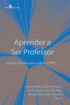 APRENDER A SER PROFESSOR