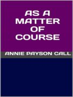 As a matter of course (ebook)