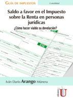 Saldo a favor en el impuesto sobre la renta en personas jurídicas. ¿Cómo hacer viable su devolución? (ebook)