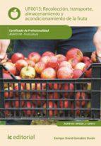 Recolección, transporte, almacenamiento y acondicionamiento de la fruta. AGAF0108