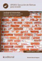 Ejecución de fábricas para revestir. EOCB0208 (ebook)