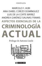 Aspectos esenciales de la Criminología actual (ebook)
