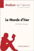 Le Monde d'hier de Stefan Zweig (Analyse de l'oeuvre) (ebook)