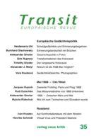 Transit 35. Europäische Revue (ebook)