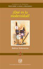 ¿Qué es la modernidad? (ebook)