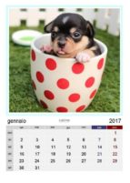 Calendario amici a 4 zampe 2017 (ebook)