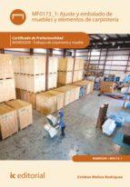 Ajuste y embalado de muebles y elementos de carpintería. MAMD0209 - Trabajos de carpintería y mueble