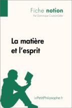 La matière et l'esprit (Fiche notion) (ebook)