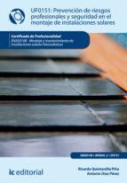 Prevención de riesgos profesionales y seguridad en el montaje de instalaciones solares. ENAE0108 (ebook)