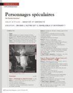 NRP LYCÉE - SÉQUENCE BAC PRO 1RE - LES PERSONNAGES SPÉCULAIRES - JANVIER 2012 (FORMAT PDF)