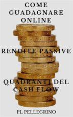 Come guadagnare online con le rendite passive e i quadranti del cash flow (ebook)