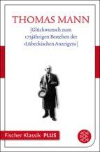 """Glückwunsch zum 175jährigen Bestehen der """"Lübeckischen Anzeigen"""""""
