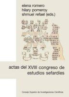 Actas del XVIII Congreso de Estudios Sefardíes (ebook)