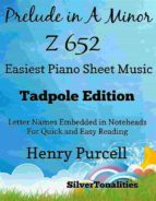 PRELUDE IN A MINOR Z 652 EASIEST PIANO SHEET MUSIC TADPOLE EDITION