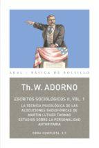ESCRITOS SOCIOLÓGICOS II. VOL. 1