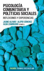 Psicología comunitaria y políticas sociales (ebook)