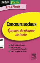 CONCOURS SOCIAUX ÉPREUVE DE RÉSUMÉ DE TEXTE