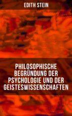 Philosophische Begründung der Psychologie und der Geisteswissenschaften (ebook)