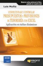 CONFECCIONAR Y CONTROLAR PRESUPUESTOS Y PREVISIONES DE TESORERÍA CON EXCEL