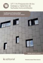 Preparación de los trabajos y replanteo de fachadas transventiladas. IEXD0409