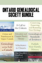 Ontario Genealogical Society 12-Book Bundle (ebook)